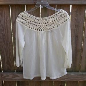 NWOT Cream Long Sleeve Blouse